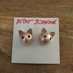Besty Johnson Kitty Cat Earrings